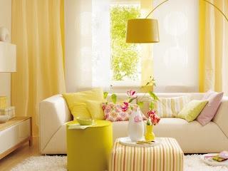 decoração de verão sala de estar
