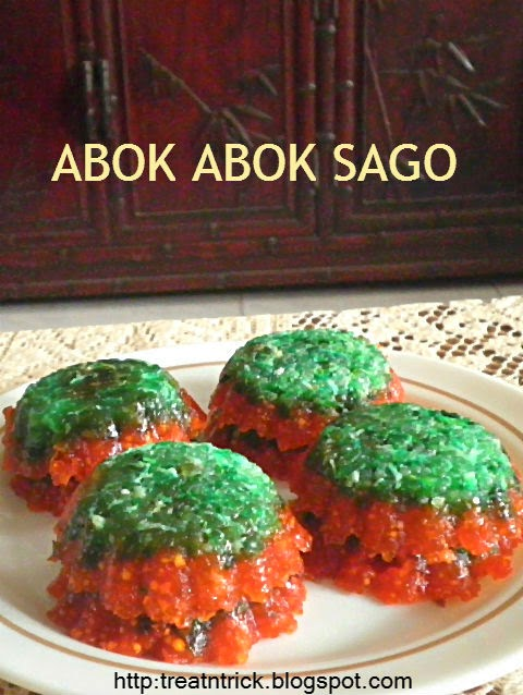 Abok Abok Sago w/coconut and palm sugar