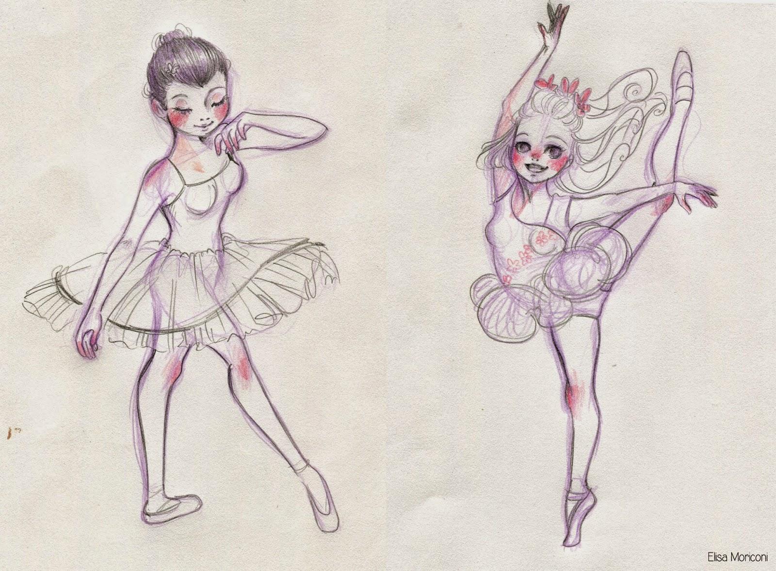 Disegni Di Ballerine Da Disegnare : Vita da illustratore: ballerina