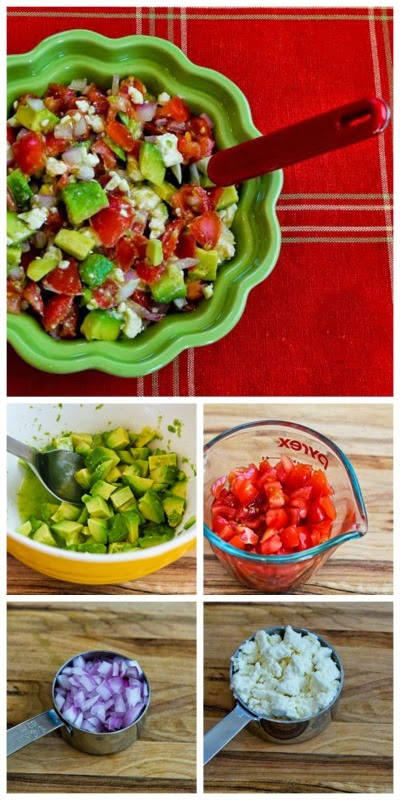 Lisa's Cross-Cultural Salsa with Tomato, Avocado, Lime, and Feta found on KalynsKitchen.com