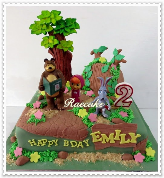 Masha and the Bear Cake for Emily Kue Ulang Tahun Birthday Cake