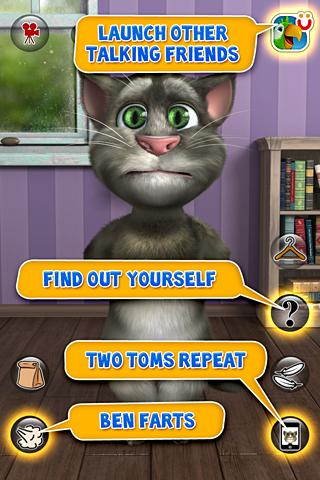 talking tom man behind eye