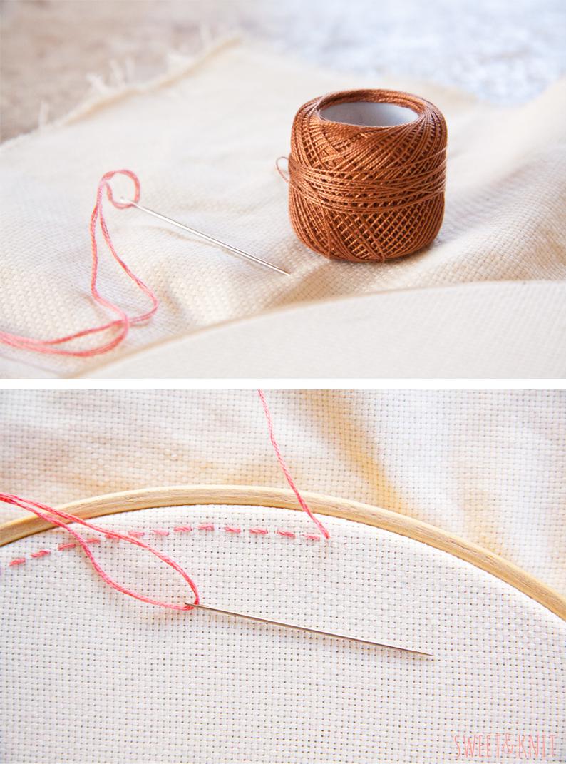 Sweet knit bordado chino ii o punch needle for Como hacer alfombras en bordado chino
