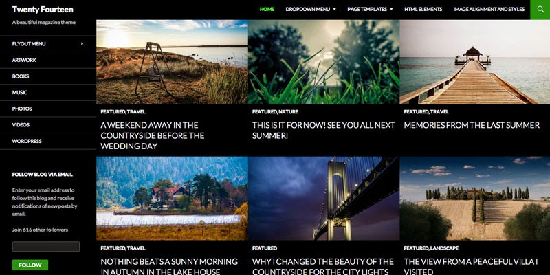 Twenty Fourteen - Free responsive wordpress themes