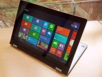 Lenovo IdeaPad Yoga 13 no modo Tela