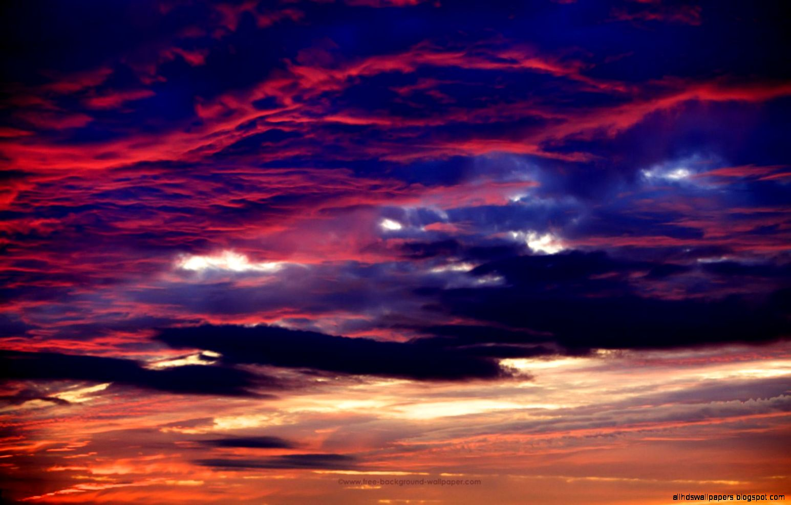 beautiful sunset above the clouds background hd | all hd wallpapers