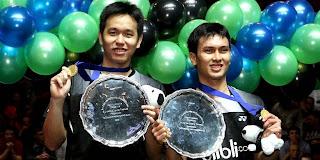 Mohammad Ahsan dan Hendra sang juara