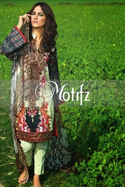 Motifz Digital prints Summer Lawn Collection 2015
