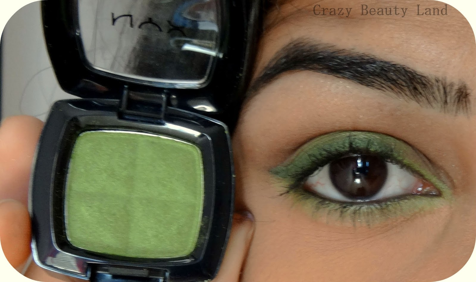NYX Single Eye Shadow in Kiwi Review EOTD