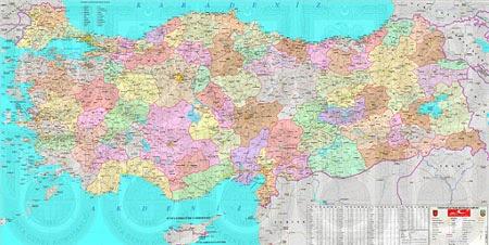 B�y�k Boyutta T�rkiye Siyasi Haritas�