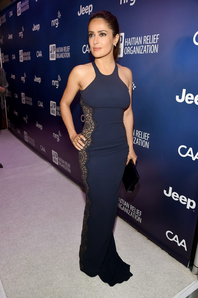 Salma Hayek At 4th Annual Sean Penn & Friends Help Haiti Home Gala In La