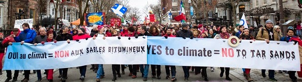 Quebec City 15-04-11: YES to Climate = NO to Tar Sands.