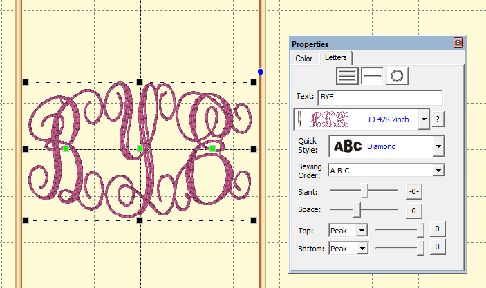Sized Scrolly Monograms Like This One From Jolsons I Can Still Scoot These Letters Closer So They Overlap If Wish Using The Space Lever