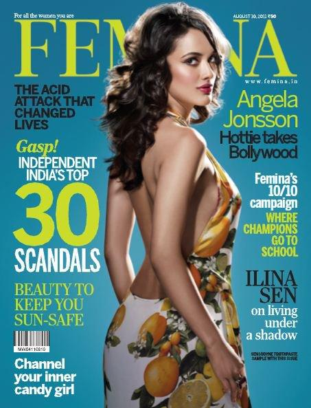 Angela Jonsson @ Magazine Cover Of Femina August 2011