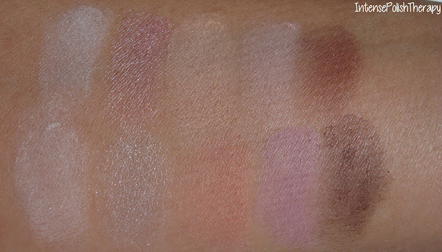 Sensation eye shadow palette swatch