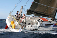 Picture of racing yacht - PHPR sponsors People's Boat