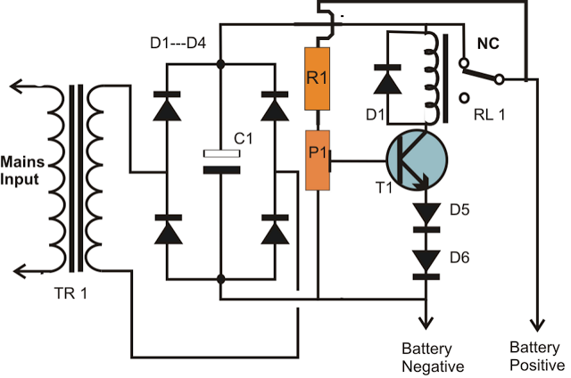 Simplest Smf Automotive Battery Charger on car alarm circuit diagram