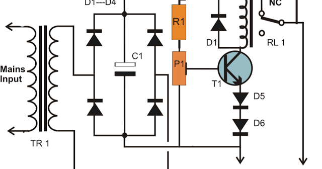 simplest smf automotive battery charger circuit diagram