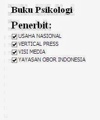 Buku Psikologi Penerbit Usaha Nasional, Vertical Press, Visi Media Yayasan Obor Oline Murah