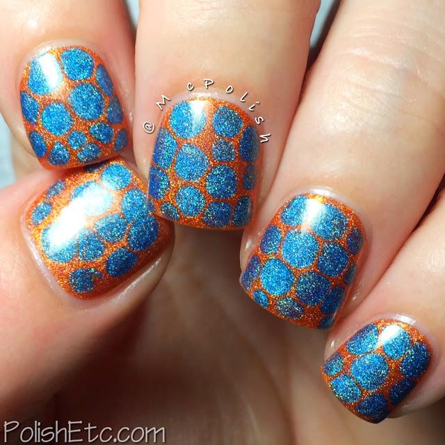 Orange Nails for the #31dc2015 - Cirque Colors - Blobbicure - McPolish