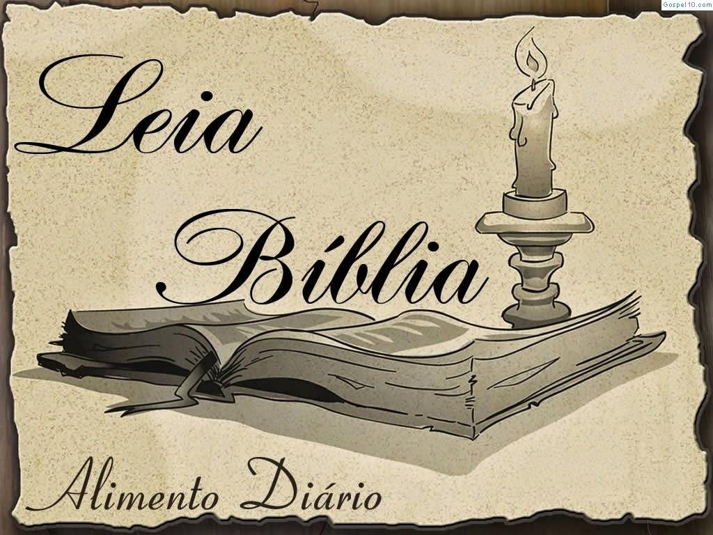 LEIA A BÍBLIA PARA NÃO MORRER DE FOME ESPIRITUAL