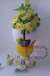 пасхальное яйцо вышивка лентами