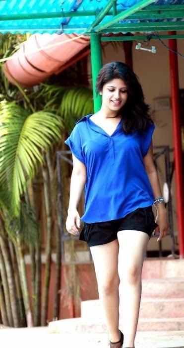 Actress Supriya in Blue Dress