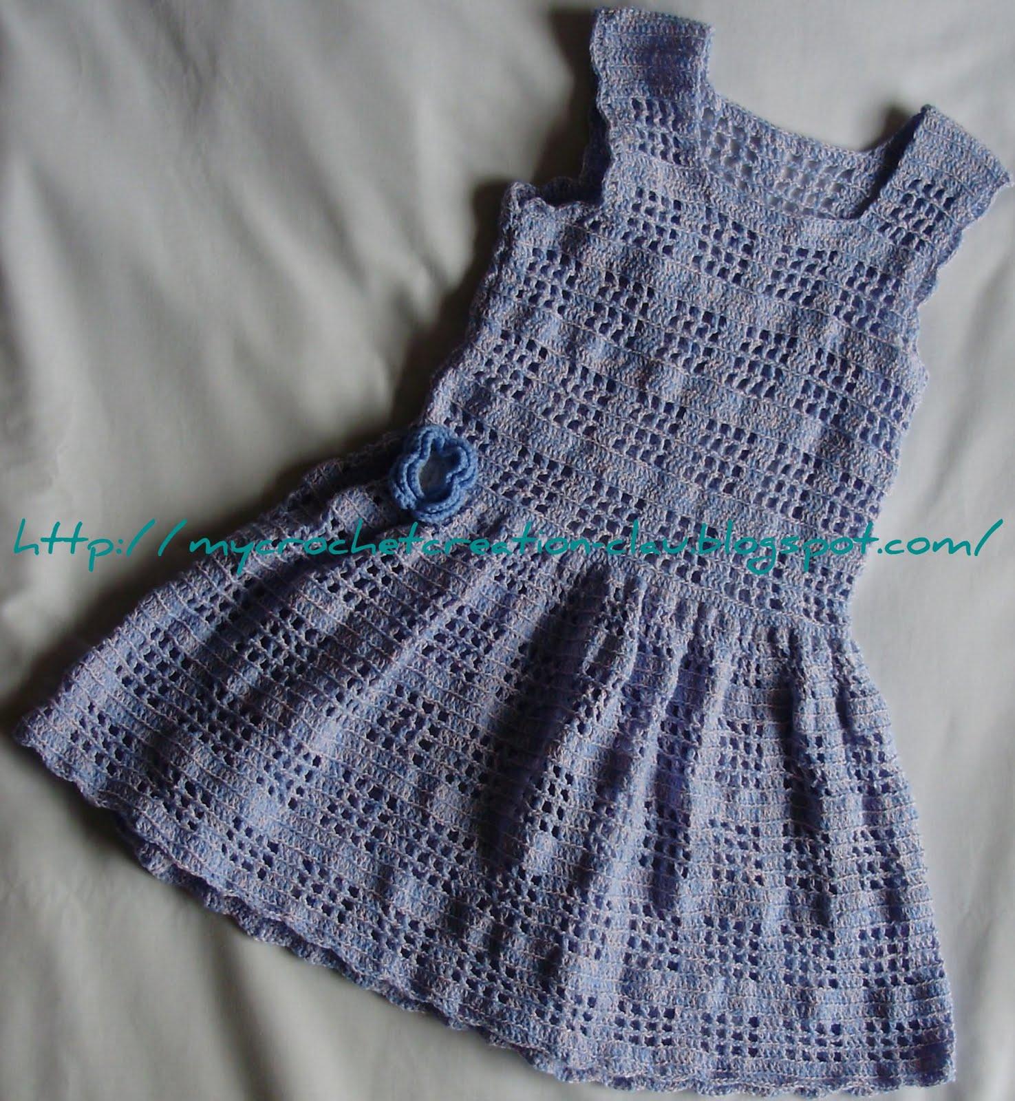Vestido De Crochet Para Nina