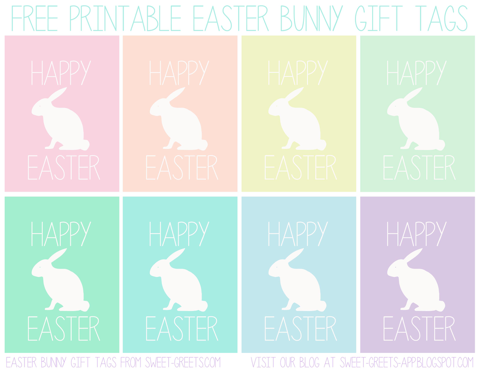Here's a set of printable Easter bunny gift tags for you. Just click ...