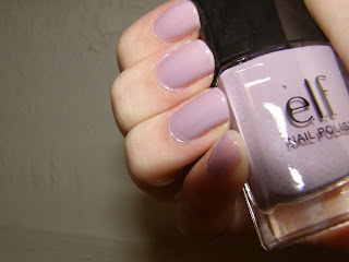 elf nailpolish lilac nails