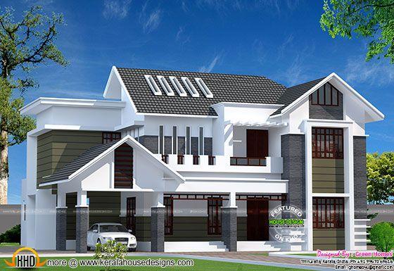 2800 sq-ft modern Kerala home