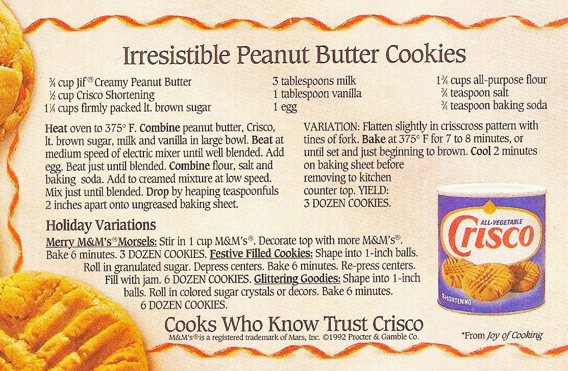 Farm Girl Pink Holiday Baking Crisco Peanut Butter Cookies