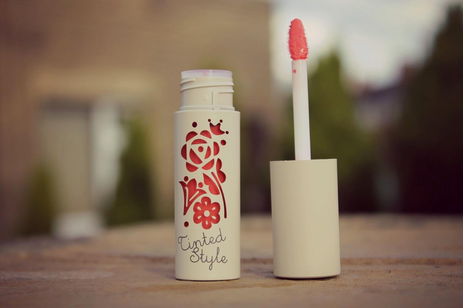 peach coral lip gloss korea