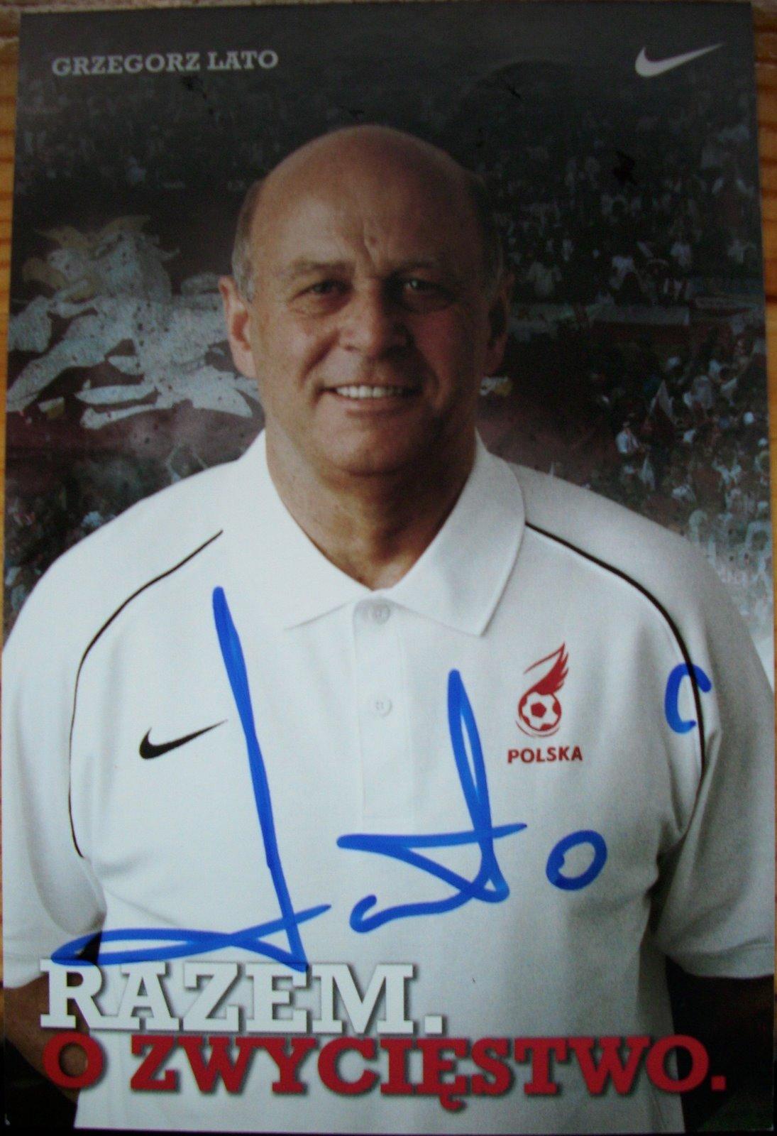 Autografy Grzegorz Lato