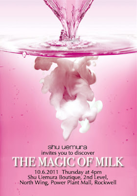 Shu Uemura invite to The Magic of Milk