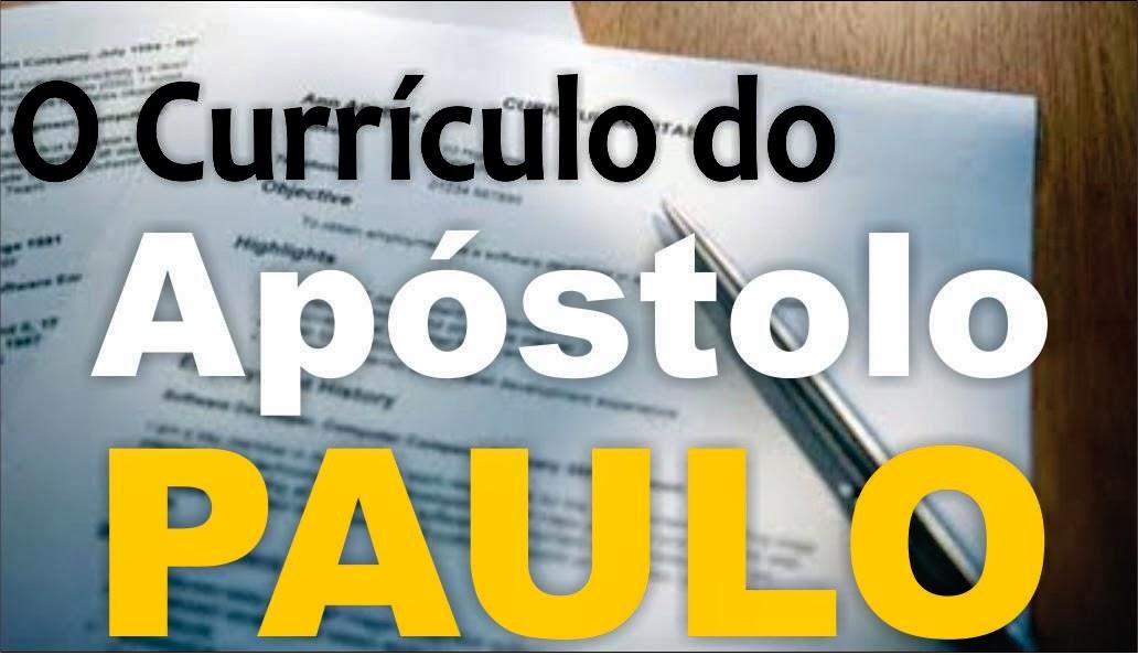 Currículo do Apóstolo Paulo