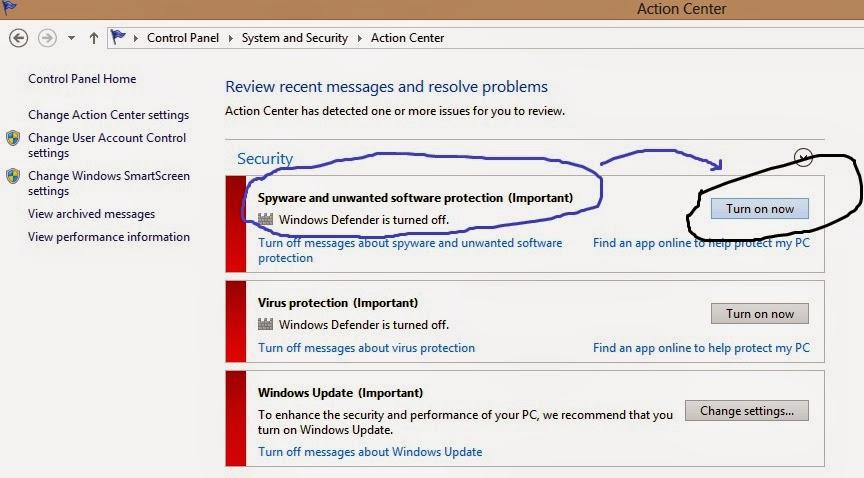 Cara Mengaktifkan Windows Defender Di Windows 8 Dengan Cara yang mudah