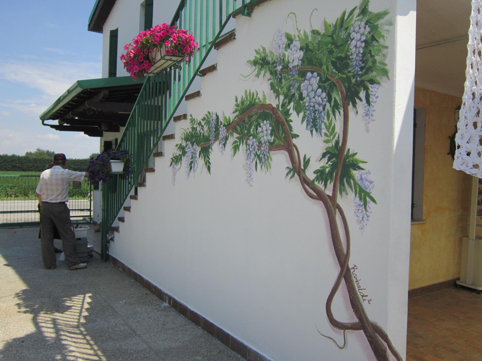 Murales glicine for Glicine disegno