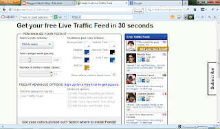 cara memasang live traffic feed di blog