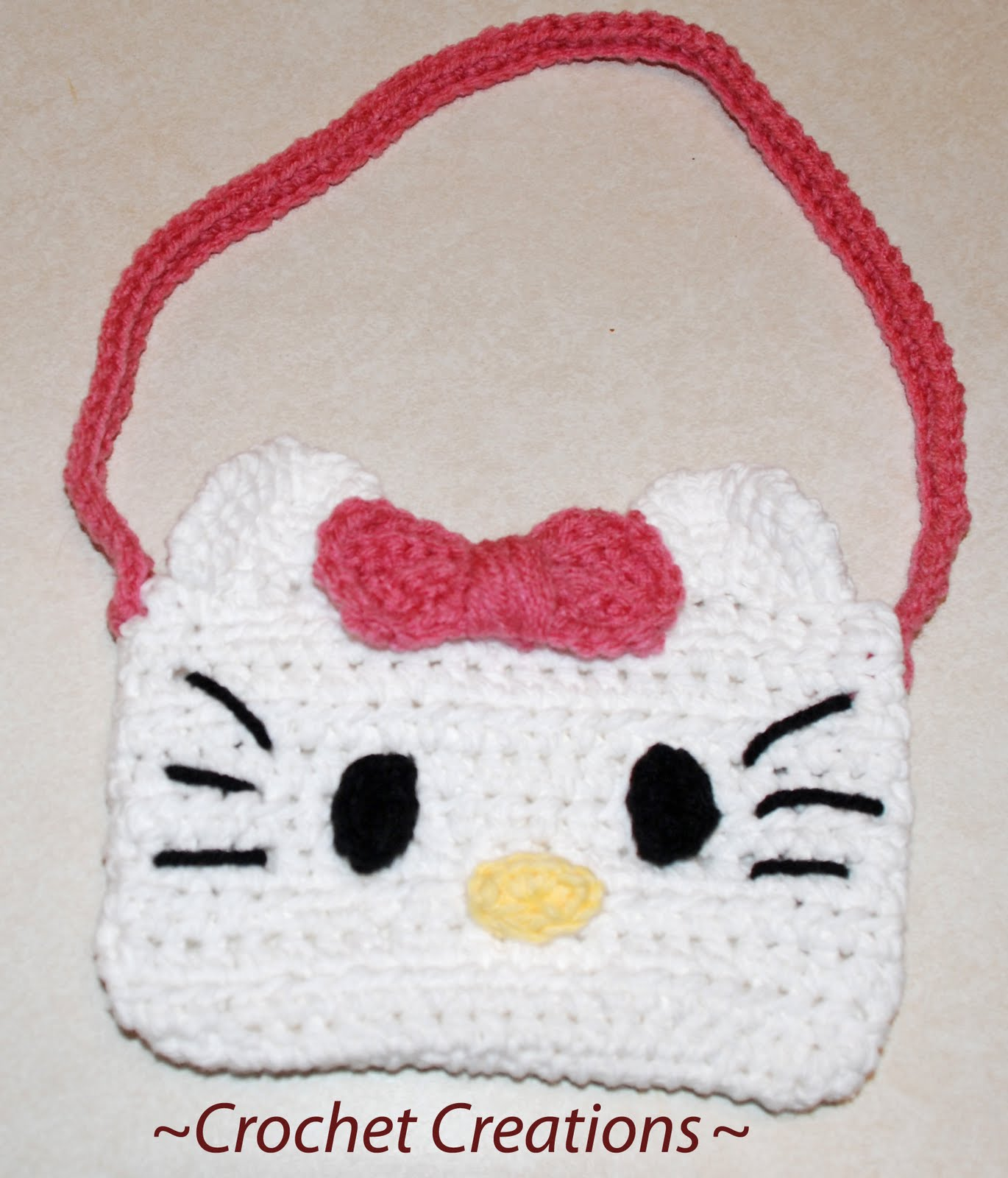 Crochet Purse Patterns Hello Kitty : Gallery For > Crochet Hello Kitty Purse