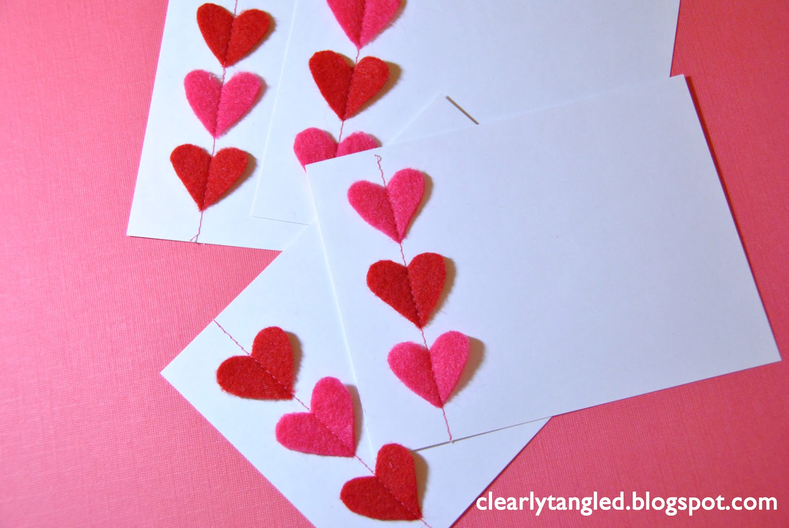 Clearlytangled stitched felt heart valentines cards ways to rid how do you feel about valentines day love it hate it look forward to it every year wish it didnt exist solutioingenieria Images