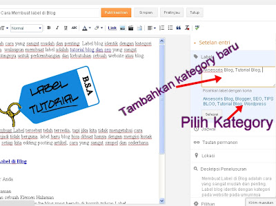 Membuat Label di Blog