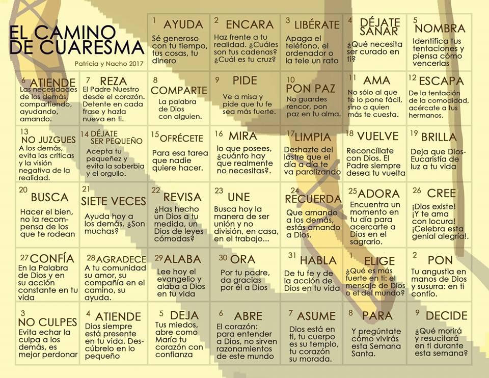 CALENDARIO DE CUARESMA