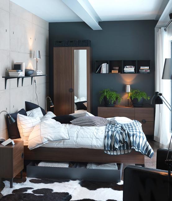 Como Usar Cores Escuras em Ambientes Pequenos  Cores da Casa