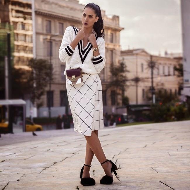 Zara 2014 AW Printed Sarong Skirt