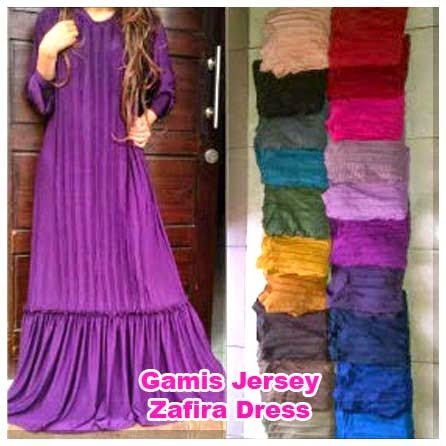 Gamis Jersey Zafira Dress | azzahidahcollections.com