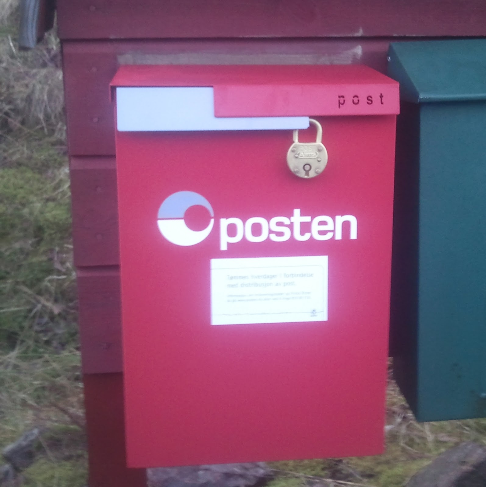 Posten tømming postkasser