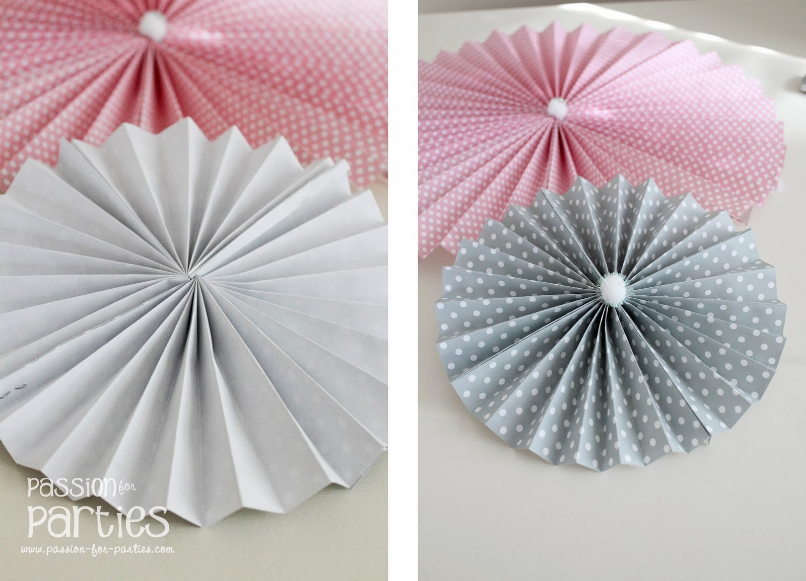 How to make rosettes out of paper - And There You Have Your Rosettes