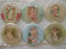 Sweet Victorian Angels in soft Shabby Cottage Colors