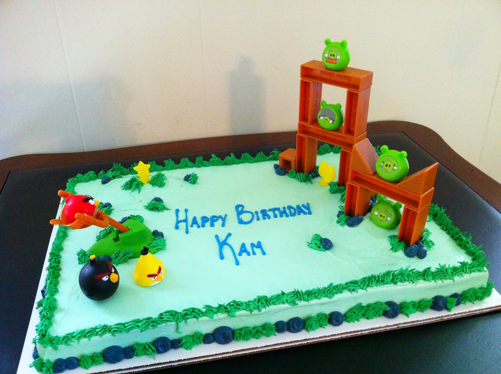 angry bird birthday cakes